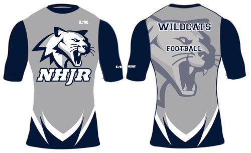 NH JR. Football Sublimated Compression Shirt - 3/4 Sleeve - 5KounT