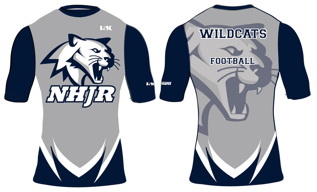 NH JR. Football Sublimated Compression Shirt - 3/4 Sleeve