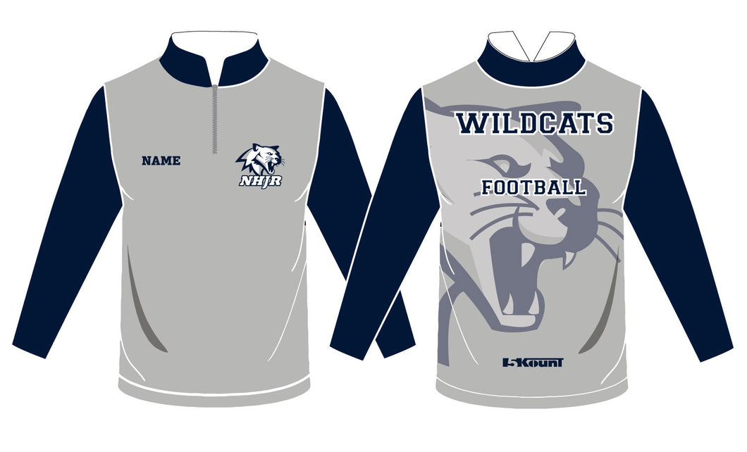 NH JR. Football Sublimated Quarter Zip - 5KounT