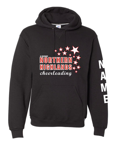 Highlands Cheer Russell Athletic Cotton Hoodie Design 2 - Black - 5KounT2018
