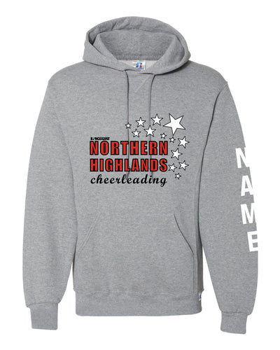 Highlands Cheer Russell Athletic Cotton Hoodie Design 2 - Gray - 5KounT2018