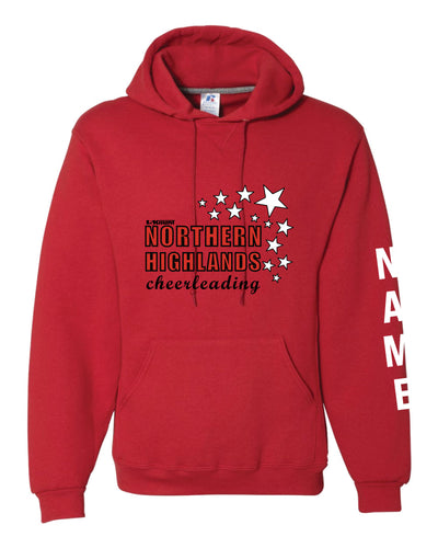 Highlands Cheer Russell Athletic Cotton Hoodie Design 2 - Red - 5KounT2018