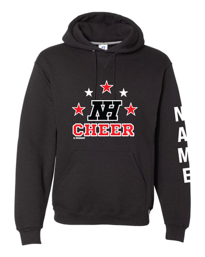Highlands Cheer Russell Athletic Cotton Hoodie Design 1 - Black - 5KounT2018