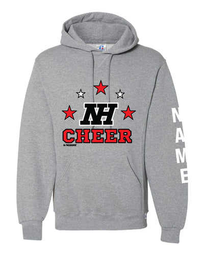 Highlands Cheer Russell Athletic Cotton Hoodie Design 1 - Gray - 5KounT2018