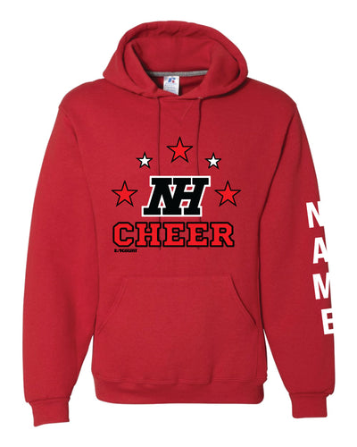 Highlands Cheer Russell Athletic Cotton Hoodie Design 1 - Red - 5KounT2018