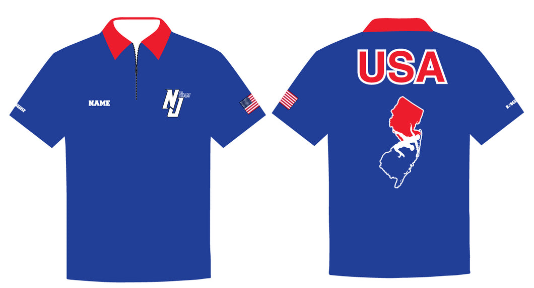 NJ Wrestling Team Sublimated Polo - 5KounT2018