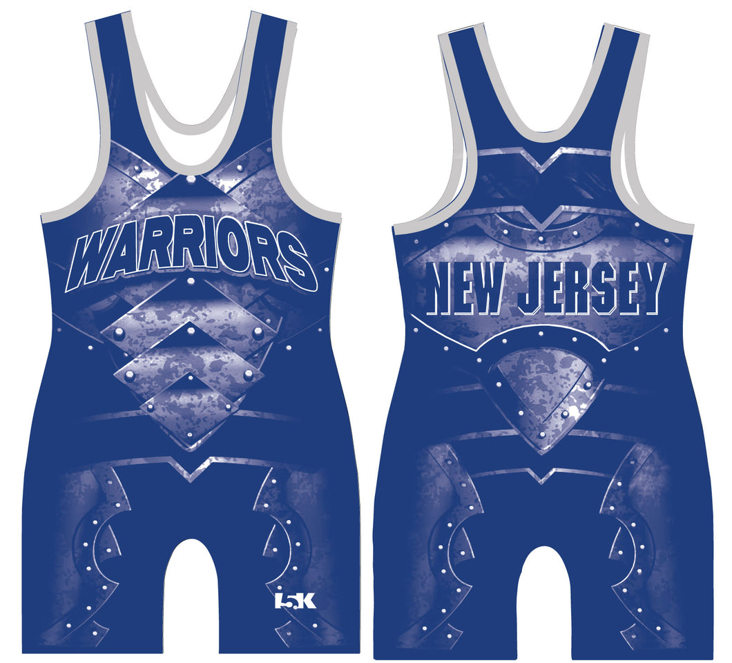 Mat Warriors Sublimated Singlet - Blue