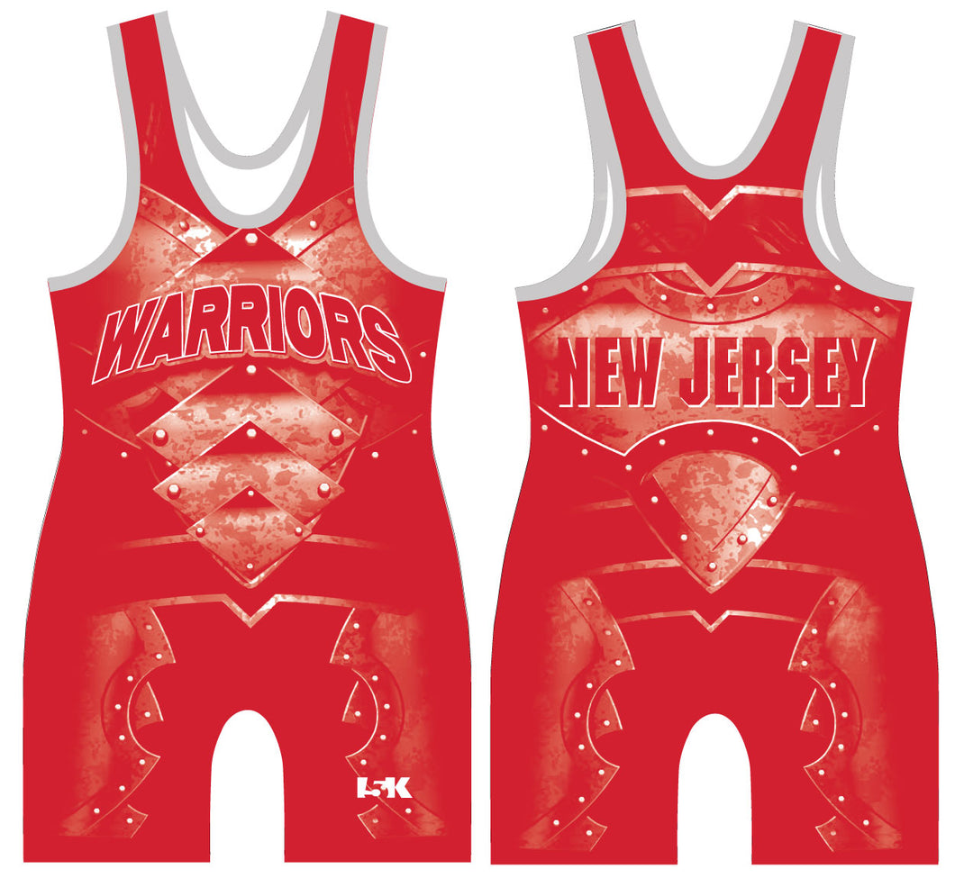 Mat Warriors Sublimated Singlet - RED
