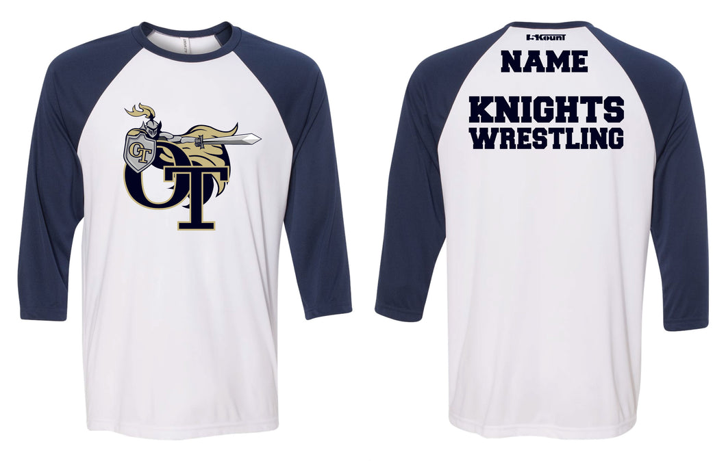 NVOT Wrestling Baseball Shirt - Navy/White - 5KounT2018
