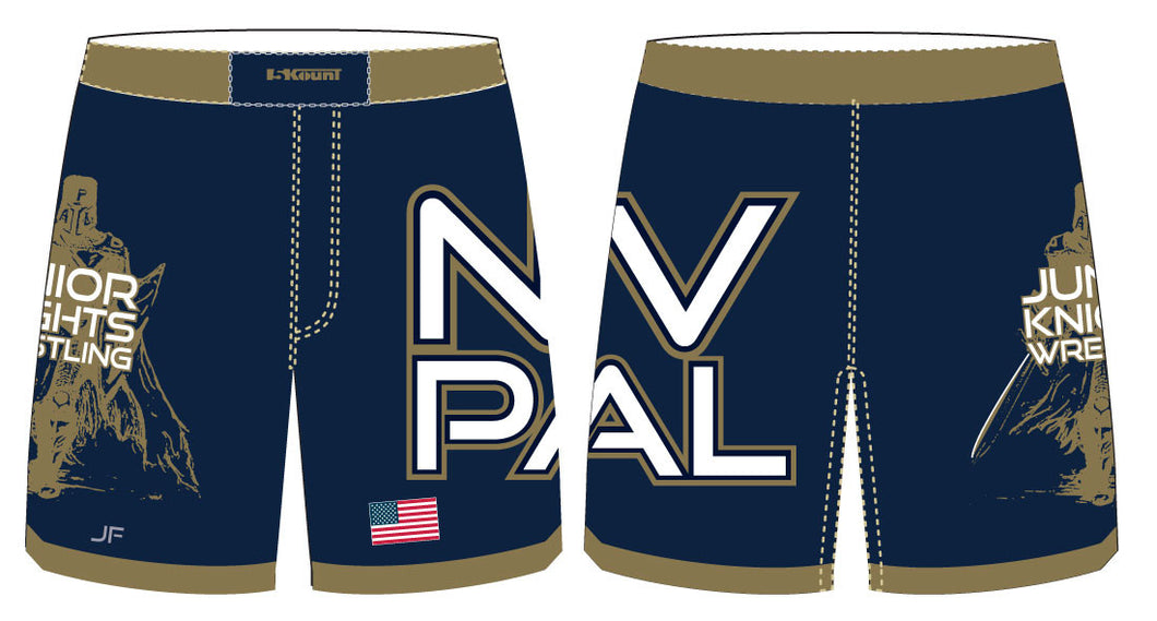 Jr. Knights Wrestling Sublimated Fight Shorts - 5KounT2018