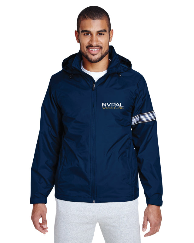 Jr. Knights Wrestling All Season Hooded Jacket - Navy