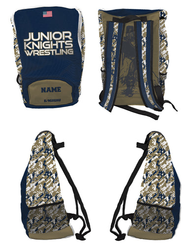 Jr. Knights Wrestling Sublimated Backpack - 5KounT2018
