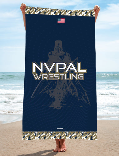 Jr. Knights Wrestling Sublimated Beach Towel