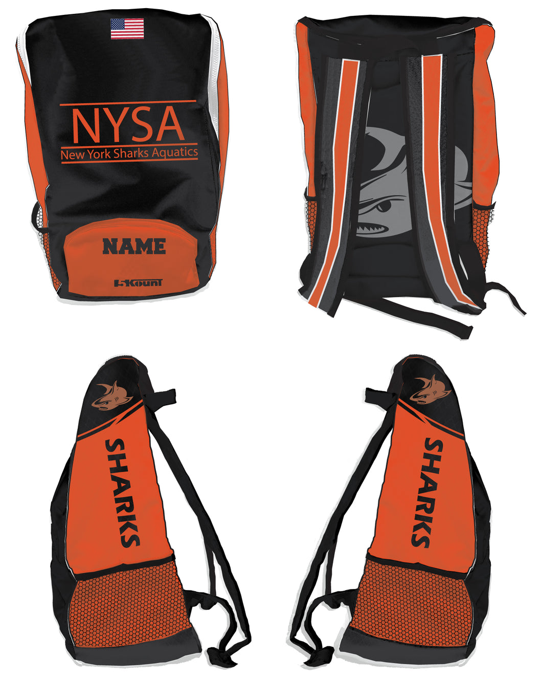 NYSA Sublimated Backpack - 5KounT2018