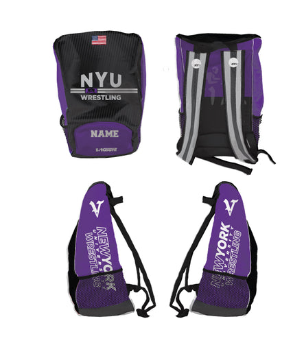 NYU WRESTLING Sublimated Backpack - 5KounT2018
