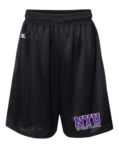 NYU Wrestling Russell Athletic  Tech Shorts - Black - 5KounT2018