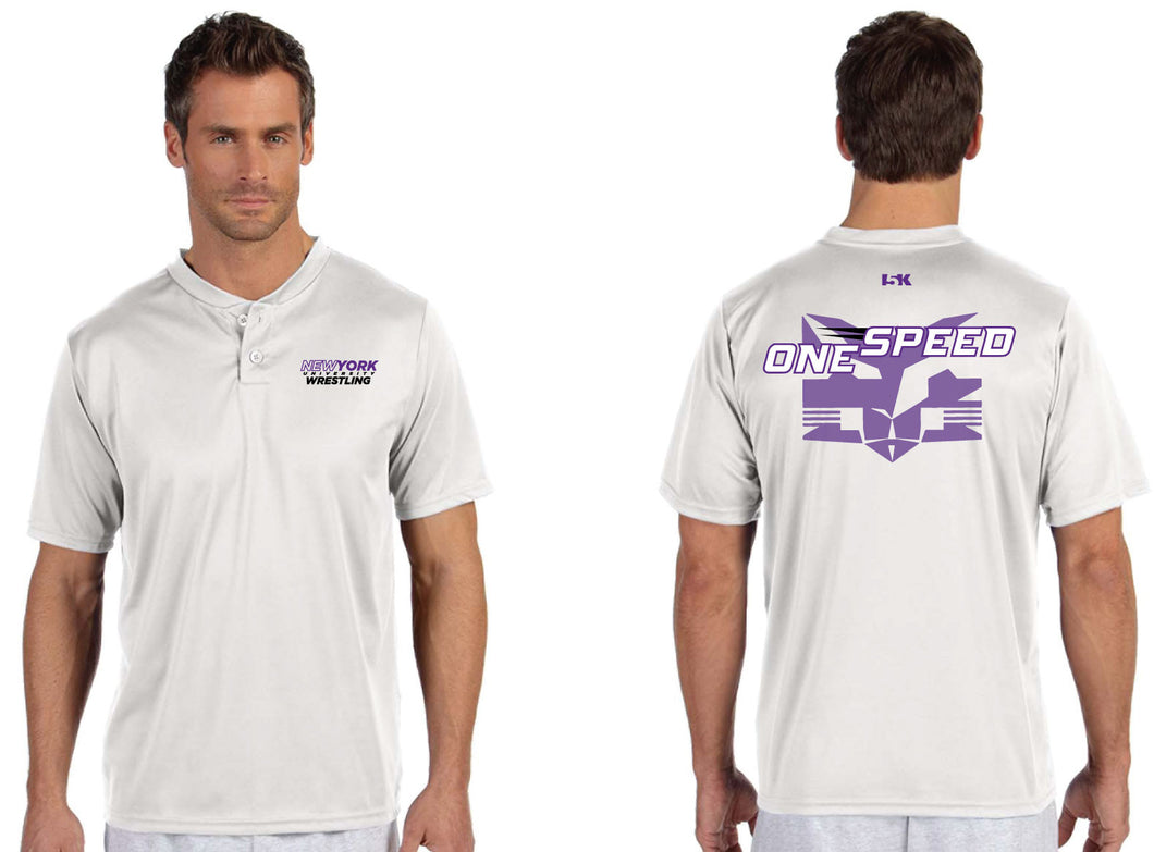 NYU Wrestling Two-Button Dryfit Jersey - 5KounT