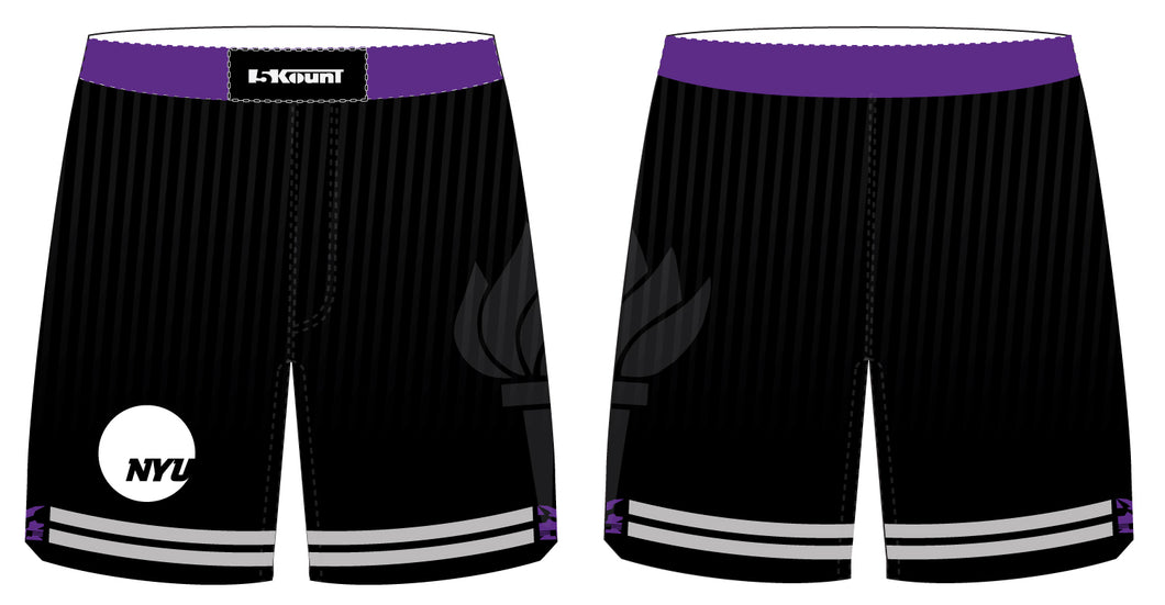 NYU Wrestling Sublimated Fight Shorts