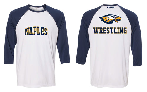 Naples Wrestling Club Baseball Shirt - Navy/White