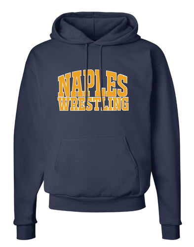 Naples Wrestling Club Cotton Hoodie -Navy