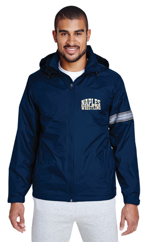 Naples Wrestling Club All Season Hooded Jacket - Navy