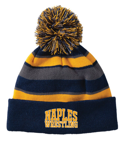 Naples Wrestling Club Pom Beanie - Navy