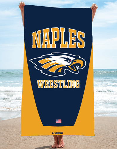 Naples Wrestling Sublimated Beach Towel