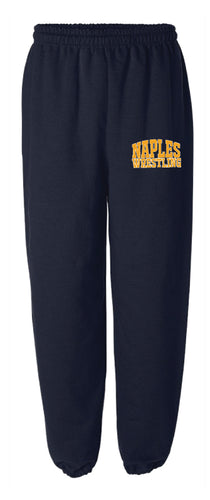 Naples Wrestling Club Cotton Sweatpants - Navy