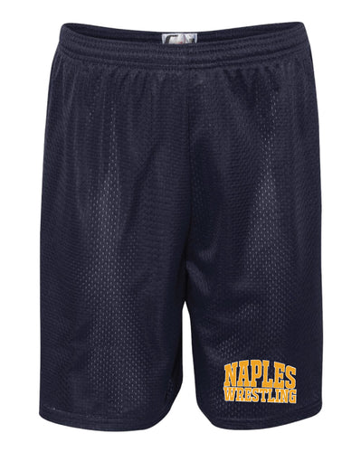 Naples Wrestling Club Tech Shorts - Navy