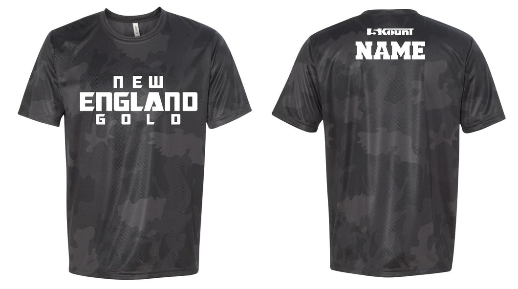 NH Gold Wrestling Laser Camo Tech Tee - 5KounT
