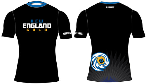 New England Gold Wrestling Sublimated Compression Shirt - 5KounT2018