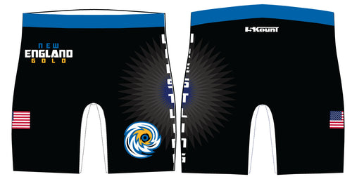 New England Gold Wrestling Sublimated Compression Shorts - 5KounT2018