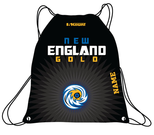 New England Gold Wrestling Sublimated Drawstring Bag - 5KounT2018
