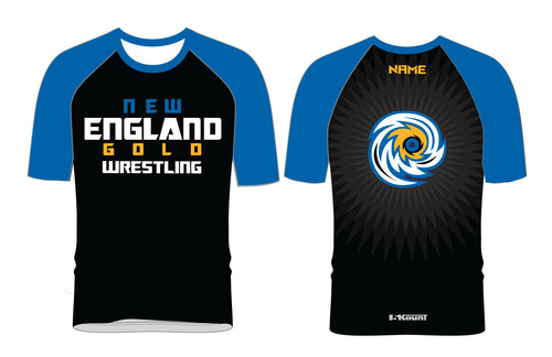 New England Gold Wrestling Sublimated Fight Shirt - 5KounT2018