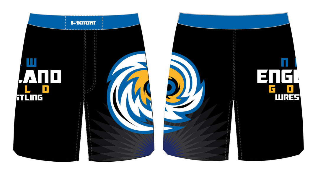 NH Gold Wrestling Sublimated Fight Shorts