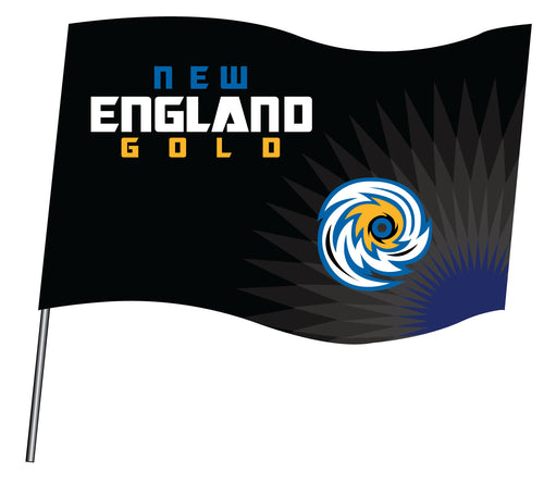 New England Gold Wrestling Sublimated Flag - 5KounT2018