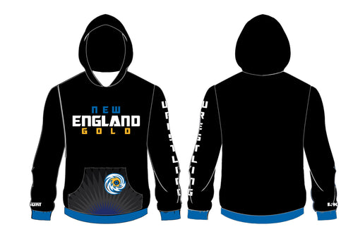 New England Gold Wrestling Sublimated Hoodie - 5KounT2018