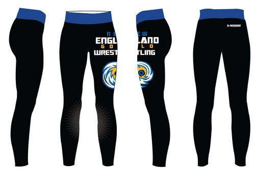 New England Gold Wrestling Sublimated Ladies Legging - 5KounT2018