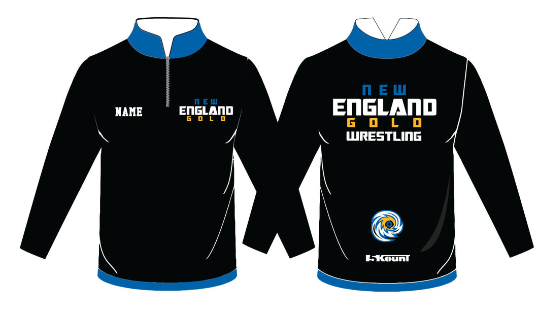 NH Gold Wrestling Sublimated Quarter Zip - 5KounT2018