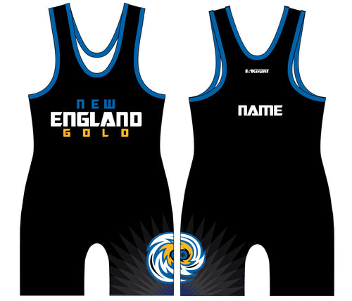 New England Gold Wrestling Sublimated Singlet - 5KounT2018