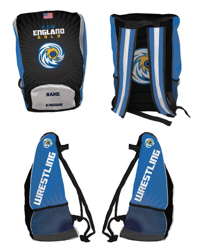 New England Gold Wrestling Sublimated Backpack - 5KounT2018