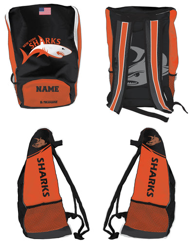 New York Sharks Sublimated Backpack - 5KounT2018