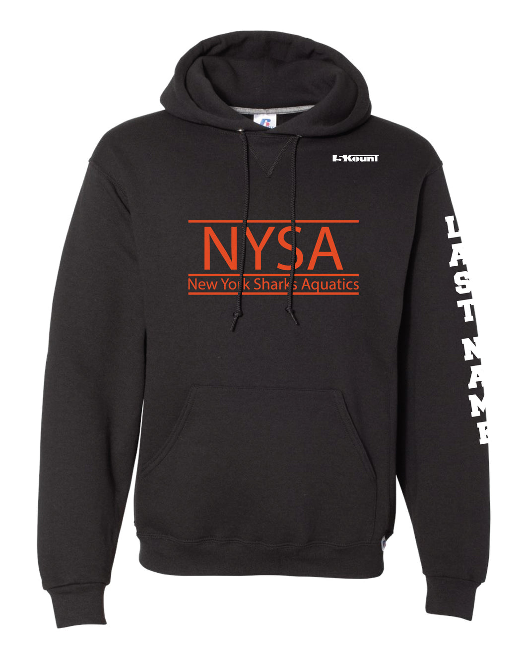 NYSA Russell Athletic Cotton Hoodie - Black