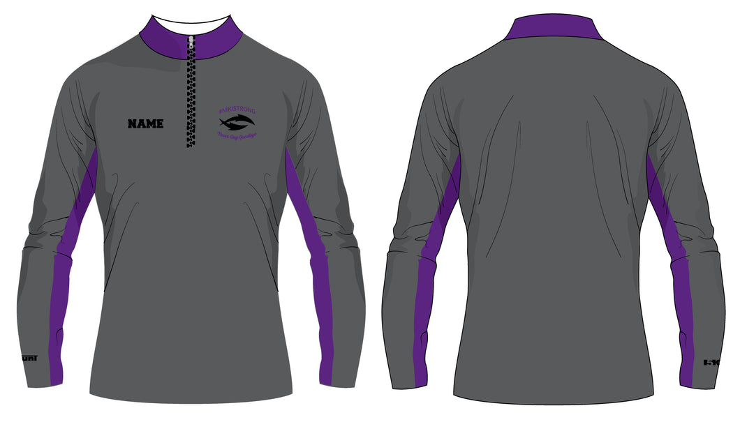 Nikistrong Wrestling Sublimated Quarter Zip - 5KounT2018