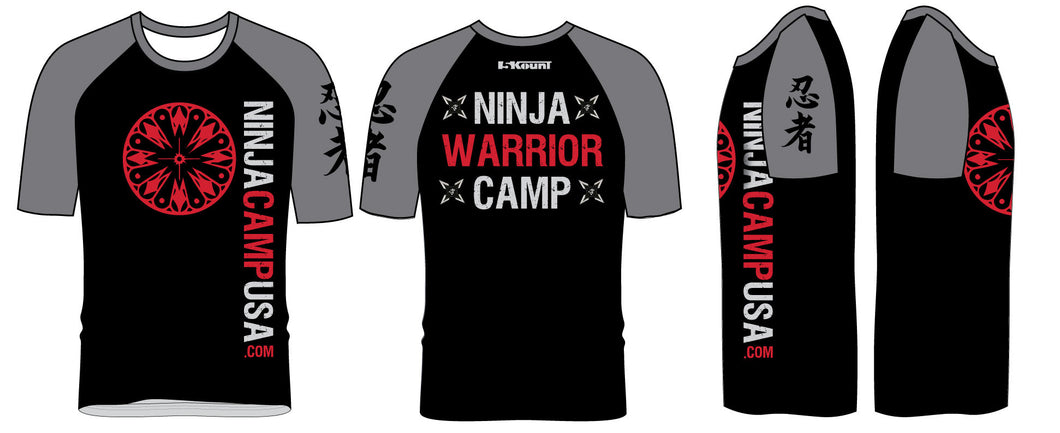 Ninja Camp 2017 Sublimated Fight Shirt - 5KounT2018