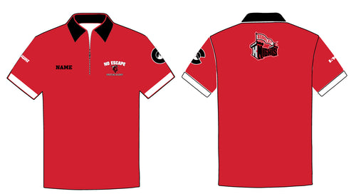 No Escape Wrestling Academy Sublimated Polo - Red/Black - 5KounT2018