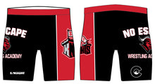 No Escape Wrestling Academy Sublimated Compression Shorts - Red/Black - 5KounT2018