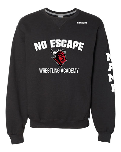 No Escape Wrestling Academy Russell Athletic Cotton Crewneck Sweatshirt - Black - 5KounT2018