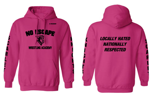 No Escape Wrestling Academy Cotton Hoodie - Pink - 5KounT2018