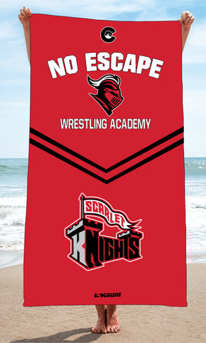 No Escape Wrestling Academy Sublimated Beach Towel - Red/Black - 5KounT2018